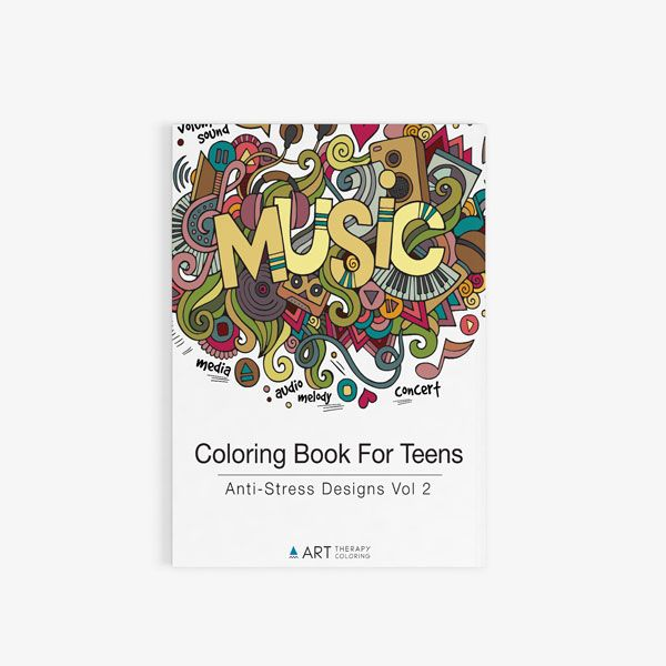 coloring book for teens anti stress designs vol 2 art therapy coloring - Coloring Books For Teens