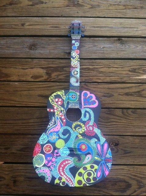 16 best images about painted guitar on pinterest ukulele for Decoration ukulele