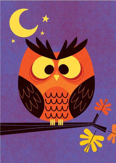 Owl Halloween - Marian Heath Greeting Cards by mrmack, via Flickr