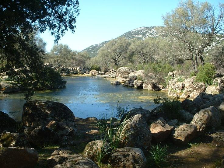 Natural pool in Golgo Baunei