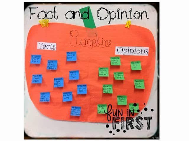 It S Pumpkin Time First Grade Writing Fact And Opinion Pumpkin Facts