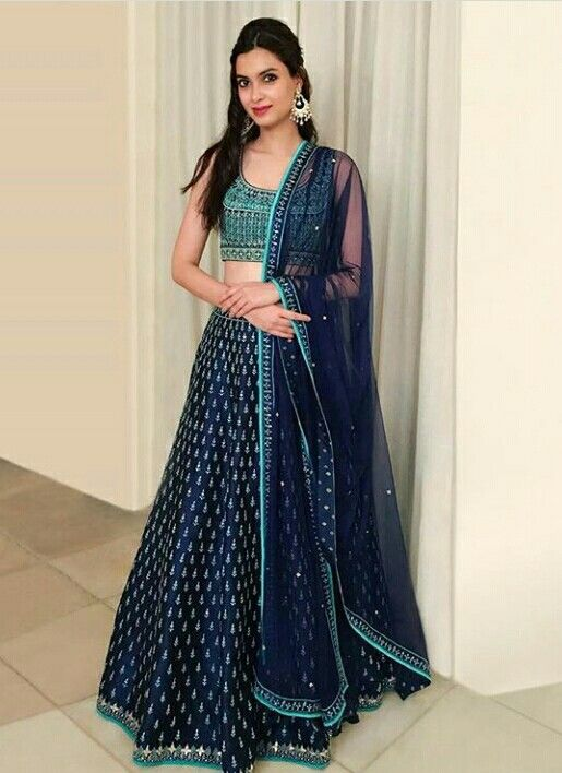 c86d30303d Diana Penty in a beautiful blue lehenga. | Ethnic Couture. | Indian bridal  fashion, Indian designer wear, Indian dresses