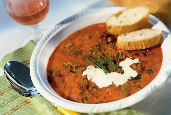 Hack-Tomaten-Suppe | Kochrezept