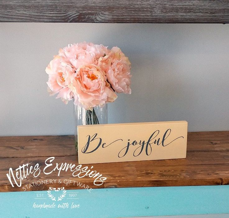 Be Joyful 4x12 Wood Sign - Netties Expressions