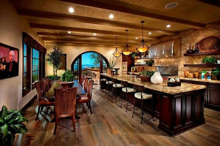 Big beautiful kitchen stylish eve inside the house for Pretty homes inside