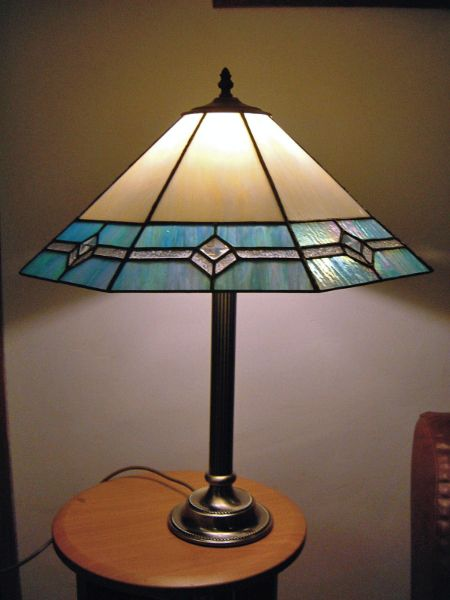 Tiffany stained glass table lamp by Pam Goodison