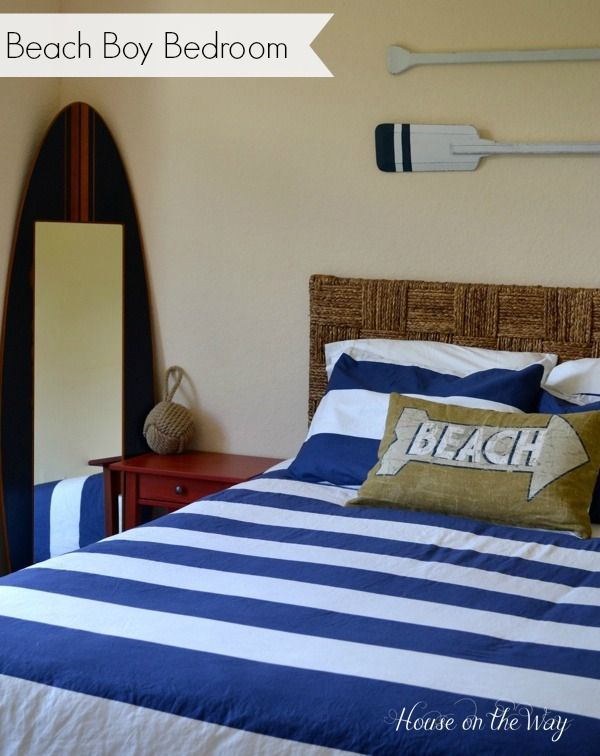 Beach Boy Bedroom Won T Use It For A But Good Ideas Any Nautical Themed Room Home Bat Decorating Pinterest Bedrooms And