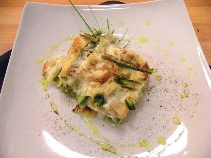 lasagne agli asparagi con besciamella