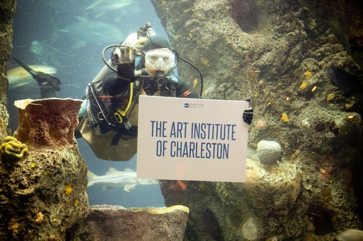 The Art Institute of Charleston getting some love at Opening Night: Salute to Charleston's Chefs (Photo: Heba Salama) #chswff