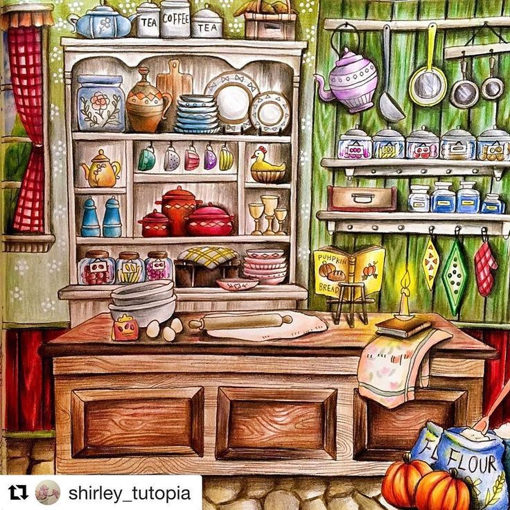 My Lovely Kitchen In Country StyleNew Video Is Up On YT Coloring Book By Medium Premier