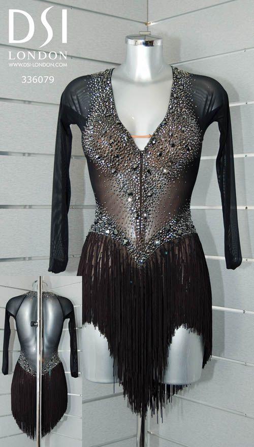 336079 Black Latin dress