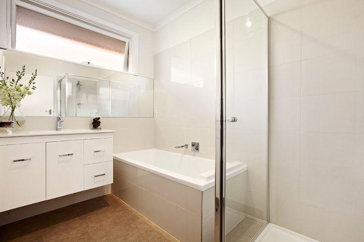 Hampton modern and timeless bathroom. White bathroom.