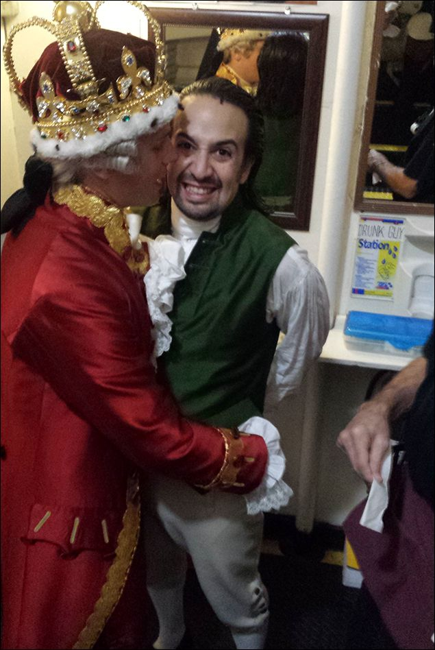 Backstage Chillin', Snacking and Revolution! Spend a Two-Show Day With Anthony Ramos at Broadway's Hamilton - Photo - Playbill.com