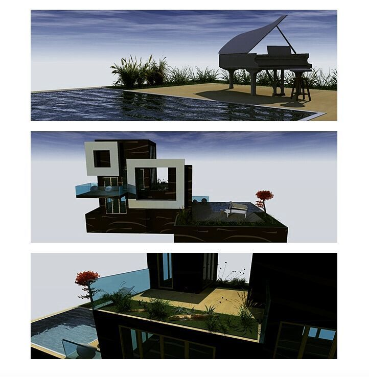 'Cubism house' proposal 2003 by Liyri.  #liyri #house # home # luxury #best #top #art #arthouse #artservices #design #architecture #landscape #exterior #power #www.liyri.com #liyriart #abstract #retreat #painter #3D #desire #namaste #topart #california #customizeddesign #customized