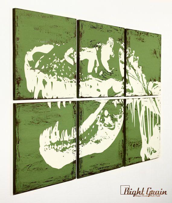 Large T Rex Dinosaur Screenprint - Large Modern Art - Custom Made Gift