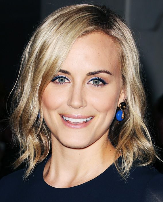 Slightly Longer Bob.  Celebrity Lobs We Love - Taylor Schilling from #InStyle