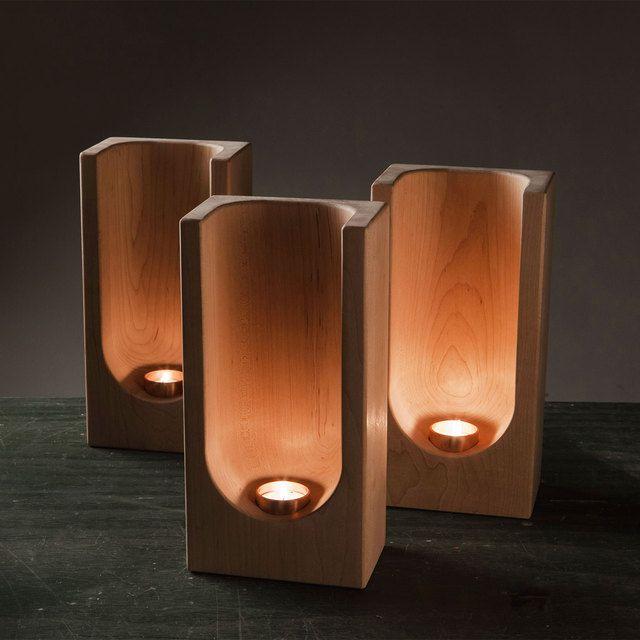 Tealight Totem Maple
