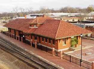 Train museum in Tyler, Texas
