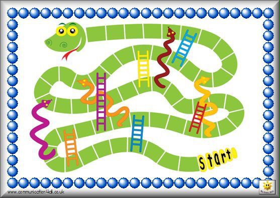 Printable Snakes And Ladders Board