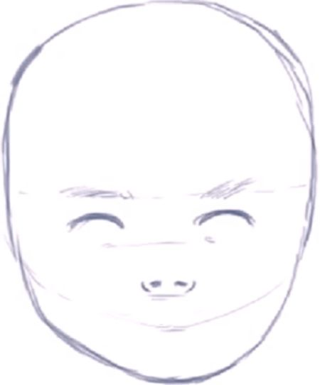 Line Drawing Of Baby Face : How to draw a baby s face head with step by drawing