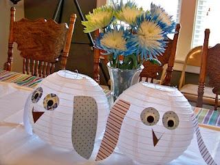 Owl Baby Shower  Paper Lantern Owls