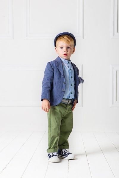 60758ac67e4 Βαπτιστικό σύνολο για αγόρι από λινό σακάκι, πουκάμισο από βαμβακερή  ποπλίνα με καρό σχέδιο και