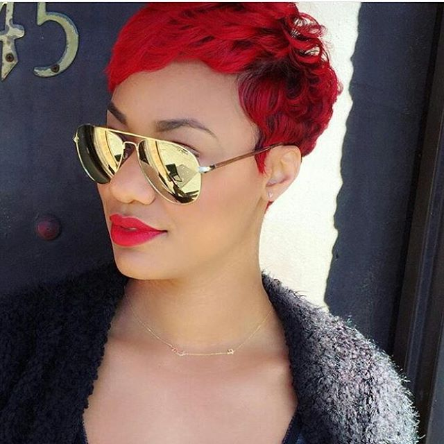 Not everyone is BOLD enough, but @michi_marshall is ROCKIN the hell out of this RED!!!  Another style by #BKstylist @artistry4gg  Tag us #sheekwe to have your BEST style featured! . . .  #Hairdresser #Hairdo #Hairstyles #Selfie  #Mua #Makeup #Curlyhair #Hairstyle #Hairstylist #Hair #Haircut #Haircolor #NaturalHair #wcw #Longhair #HairDye #indialove #Redhair #Wavyhair #Dope #Highlights #bet #sunglasses #haircut #thewestbrooks #Blondehair #Sheeky #Letsgetsheeked