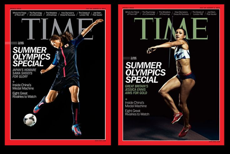 Cover of Time features women athletes as…athletes. :)