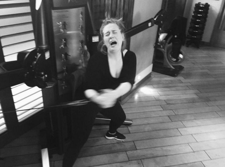Adele's+Gym+Struggle+Is+Real+(As+If+We+Needed+Another+Reason+to+Love+Her)  Adele,+Instagram