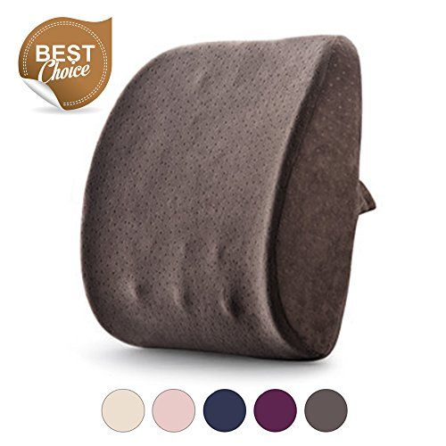 Lumbar Pillow By Balichun Back Support Pillow Lumbar Support Pillow Memory Foam Cushion Pillow for Car Office Chair and Travel Pillow for Back Pain and Sciatica(Dark Grey) >>> Check out this great product.