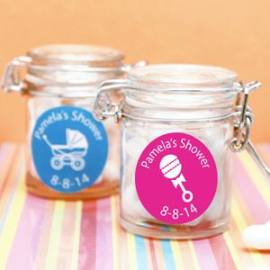 Personalized Baby Shower Favor Jar