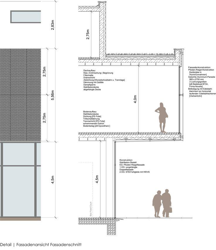 Http Www Christinakoschowsky Com Wp Content Uploads 2013 01 Neues Zentrum Fassadenschnitt Jpg Fassadenschnitt Fenster Architektur Fassade