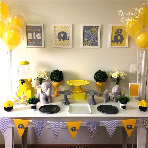 Receber e Celebrar - Festa linda perfeita para um chá de bebê