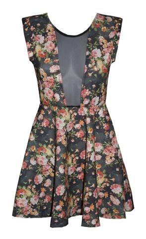 Lynn Black Floral Sheer Dress $49.95