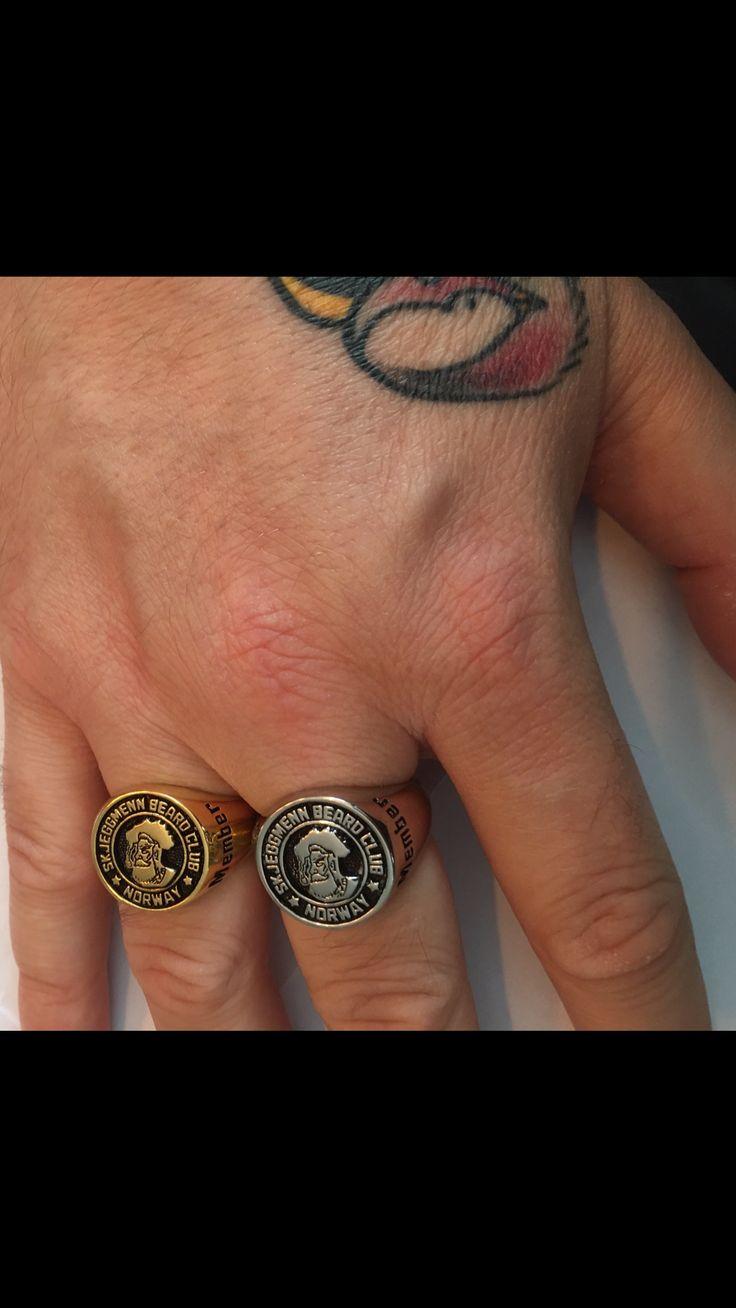 Skjeggmenn beard club member rings! #skjeggmenn#clubring#signetring#handtattoo