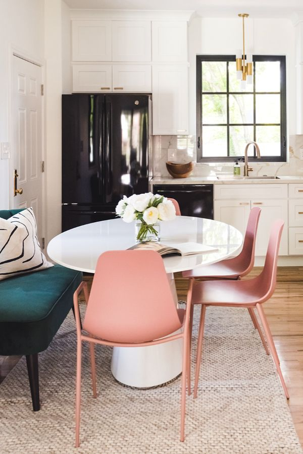 Svelti Dusty Pink Dining Armchair Black Dining Chairs Dining