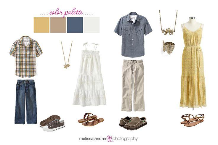 family photo outfit ideas (color scheme)