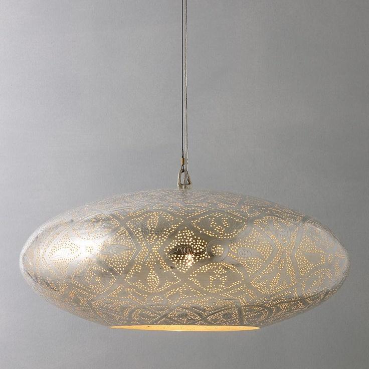 Buy Zenza Filigrain Oval Pendant Ceiling Light online at JohnLewis.com - John Lewis