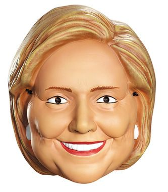 Hillary Clinton Vacuform half mask. One size fits all.