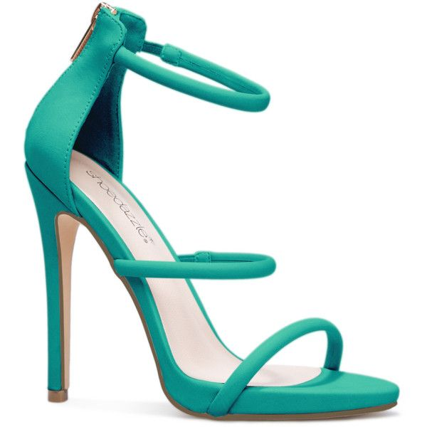 ShoeDazzle Sandals-Dressy - Platform Sylvana Womens Green ❤ liked on Polyvore featuring shoes, sandals, green, sandals-dressy - platform, green platform shoes, strappy shoes, elastic shoes, dressy sandals and elastic strap shoes