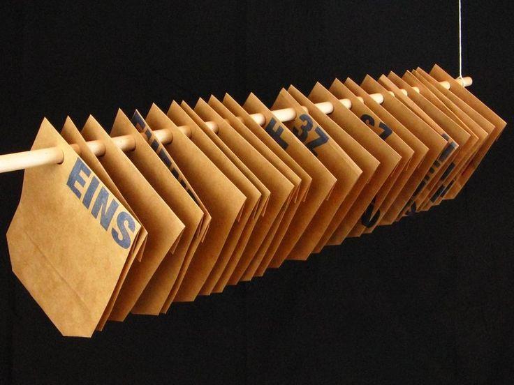 Adventskalender - ★ 4 & ZWANZIG ★ Adventskalender Kraftpapier... - ein Designerstück von Ixi-und-Frida bei DaWanda