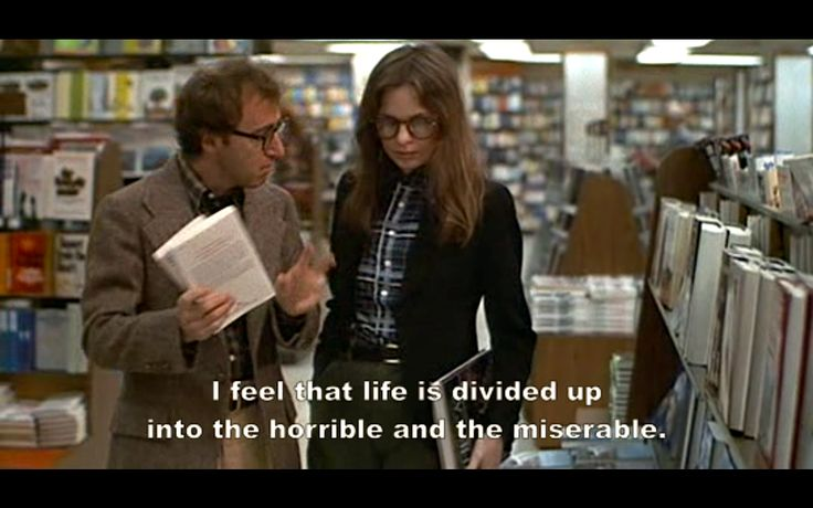 Annie Hall. I agree.....and it's all over so quickly.