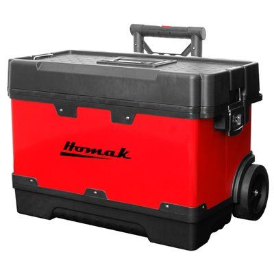 "Homak Metal and Plastic Roll Away 23"" Tool Box"