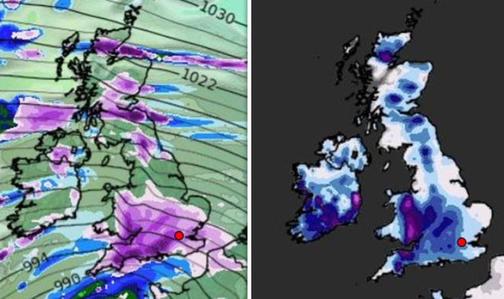 Storm Emma path: Storm tracker shows snow is heading to UK now   Weather   News