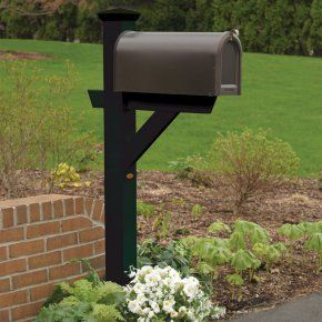 $162 highwood® Hazleton Mailbox Post - Bring home simple elegance and style with the highwood® Hazleton Mailbox Post. This durable post has been improved with a new mailbox support shel...