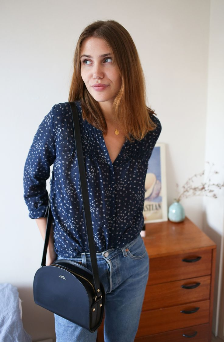 Floral Blue Shirt Outfit by Sartreuse