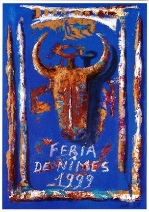 Féria de Nîmes - Affiche 1999  - Artiste Kelly Bedrossian