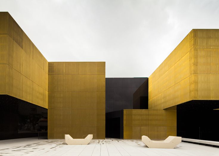 Shimmering brass walls surround this arts centre, Arts and Creative Platform, that Portuguese firm Pitagoras Arquitectos have just completed in Guimarães.  www.pitagoras.pt
