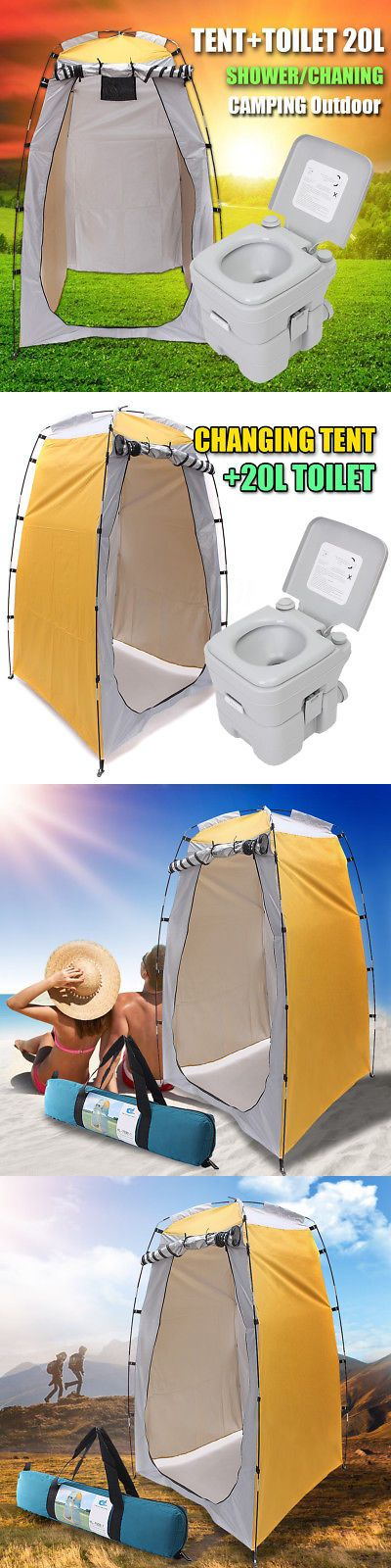 Portable Toilets and Accessories 181397: Portable Toilet Camping 5-Gallon 20L Camp Flush Travel Outdoor Hiking Potty Seat -> BUY IT NOW ONLY: $85.99 on eBay!