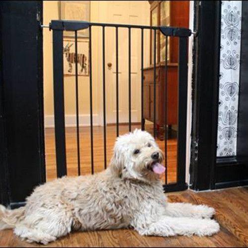 Extra Tall Premium Pressure Black Dog Gate